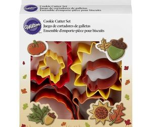 Wilton Colorful Metal Autumn 7 Pc Cookie Cutter Set Fall, an item from the 'Holiday Cookies & Cooking' hand-picked list