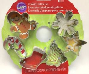 Wilton Wreath MINI Metal Cookie Cutter Set 6 pc Christmas Shapes, an item from the 'Holiday Cookies & Cooking' hand-picked list