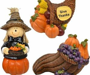 Gift Boutique Thanksgiving Decorations Scarecrow Cornucopia Figurine Table Toppe, an item from the 'Thanksgiving Table Decorations' hand-picked list
