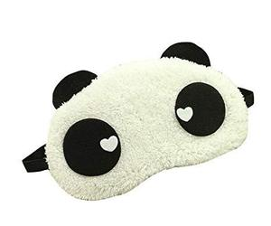 Cute Panda Eye Mask Soft Plush Sleeping Mask Travel Working Mask #04, an item from the 'Travel Must-Haves' hand-picked list