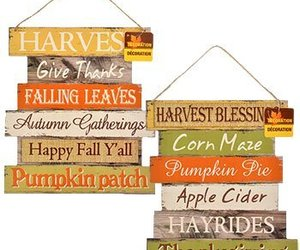 Greenbrier Fall Decoration Hanging Indoor Outdoor Welcome Wood Sign - Thanksgivi, an item from the 'Fall Must Haves' hand-picked list