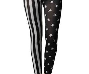 Black & White American Stars & Stripes Flag Leggings, an item from the 'Rockstars' hand-picked list