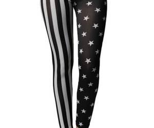 Black & White American Stars & Stripes Flag Leggings, an item from the 'Rockstars' hand-picked list