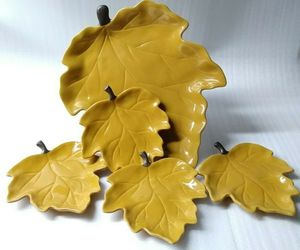 Chris Madden Jcp Home Harvest Leaf Shaped 5 Piece Rare Autumn Collection Set, an item from the 'Fall Table Decor' hand-picked list