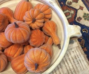 Pottery Barn Set 6 Sugared Pumpkin Vase Filler Home Decor Thanksgiving Fall New, an item from the 'Thanksgiving Table Decorations' hand-picked list