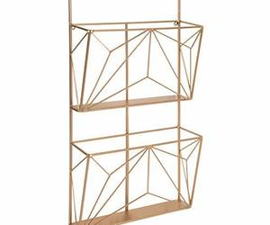 Kate and Laurel Tyde 2 Pocket Metal Hanging Wall File Holder, Rose Gold, an item from the 'Safe For Work' hand-picked list