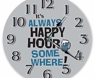 """Sugar Vine Art 10.5"""" It's Always Happy Hour Somewhere - Positivity Clock - Large, an item from the 'Happy Hour at Home' hand-picked list"""