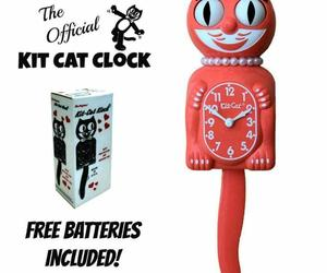 "LIVING CORAL LADY Kit Cat CLOCK 15.5"" Free Battery MADE IN USA Kit-Cat Klock New, an item from the 'Time to Think of Those New Year Resolutions' hand-picked list"