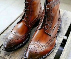 Men's Handmade Brown Leather Ankle High brogue Dress Boots Custom Made Men Boots, an item from the 'These Boots Were Made for Rocking' hand-picked list