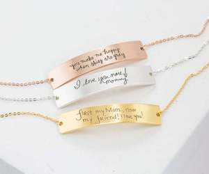 Handwritten Gold Bracelet • Custom Handwriting Bracelet • Friendship Bracelet, an item from the 'Tokens of Friendship' hand-picked list