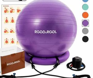RGGD&RGGL Yoga Ball Chair, Exercise Ball with Leak-Proof Design, Stability, an item from the ' Home Office and Exercise' hand-picked list