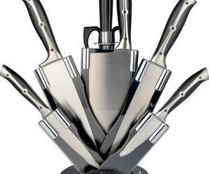 Chef Knife Set Kitchen Stainless Steel Cooking Sharp Block Cleaver Best Riveted, an item from the 'Finds for the Foodie ' hand-picked list