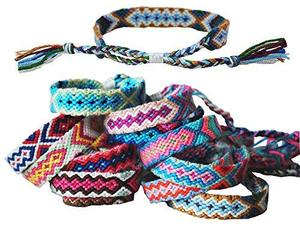 Tangser Nepal Woven Friendship Bracelets with a Sliding Knot Closure for Women,, an item from the 'Tokens of Friendship' hand-picked list