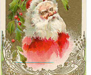 Christmas Greetings From Santa vintage  Post Card, an item from the 'Santas & Snowmen' hand-picked list
