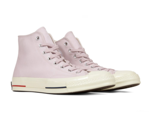 Converse Chuck 70 Heritage Court Hi Barely Rose Red Navy 160492C Mens Size 10, an item from the 'These Boots Were Made for Rocking' hand-picked list