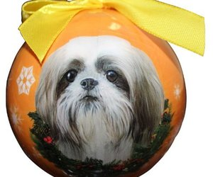 Shih Tzu Christmas Ornament Shatter Proof Ball Easy To Personalize A Perfect Gif, an item from the 'I Shih-Tzu Not' hand-picked list