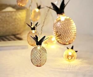 HuiZhen Novelty Pineapple Fairy String Lights with 20 LED, Battery Operated Warm, an item from the 'A Reception to Remember' hand-picked list