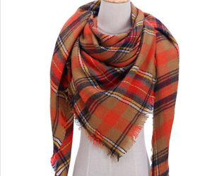 "Code ""B"" Women Blanket Oversized Tartan Scarf Shawl Plaid Cozy Checked Pashmina, an item from the 'Autumn Spirit' hand-picked list"