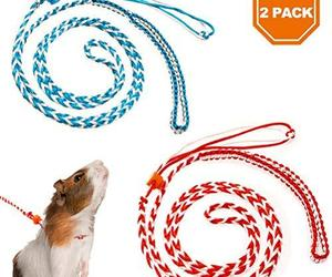 PAWCHIE 2Pcs Small Animal Harness Leash Adjustable Walking Rope for Hamster, Rat, an item from the 'Year of the Rat' hand-picked list
