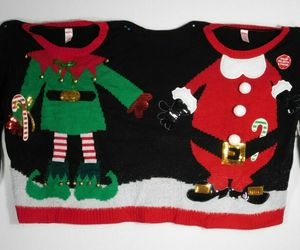 CHRISTMAS Holiday Time Santa Elf Jingle Bell Double Ugly Sweater Size S/M - New, an item from the 'Ugly Sweater Party' hand-picked list