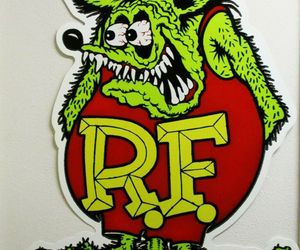 "Rat Fink Full Body Plasma Cut, Big Daddy Ed Roth Metal Sign 62"" by 42"", an item from the 'Year of the Rat' hand-picked list"