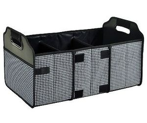 Travel Car 3 Compartment Folding Trunk Organizer Mesh Pocket Storage Container, an item from the 'Travel Organizers' hand-picked list