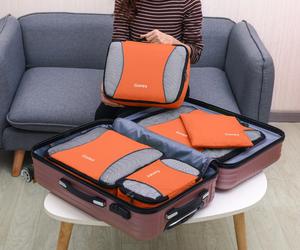 Gonex Travel Storage Bag Set Suitcase Luggage Organizer Hanging - Orange, an item from the 'Travel Organizers' hand-picked list