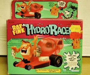 Kenner #57250 Rat Fink Hydro Racer- Raw Jaw in his Rockin Roadster - Brand New, an item from the 'Year of the Rat' hand-picked list
