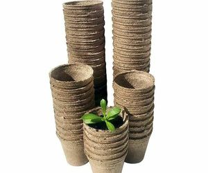 Eco Friendly Gardening Pot Nursery Plant Fiber Material Pulp Seeding Cups 100pcs, an item from the 'Garden Tools' hand-picked list