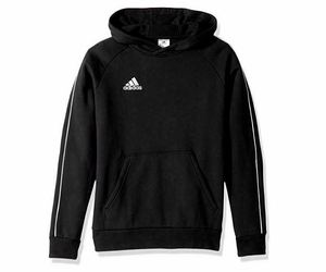 adidas Unisex Youth Soccer Core18 Hoody Extra Small 4-6 XL Black Hoodie CY8263, an item from the 'Youth Soccer Gear' hand-picked list