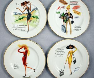 Sakura Glamour Girls Dessert Salad Luncheon Plates Sassy Humor Quotes Set of 4, an item from the 'Finds for the Foodie ' hand-picked list