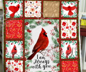 Cardinal bird blanket - I am always with you Sofa Fleece Blanket Gift, an item from the 'Birds of a Feather....' hand-picked list