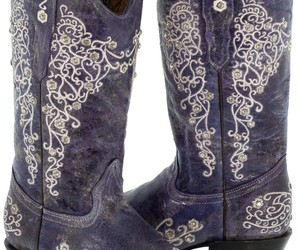 Womens Purple Distressed Leather Boots Cowboy Western Wedding Rhinestones Snip, an item from the 'Life is short. Buy the shoes.' hand-picked list