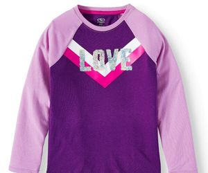 "Athletic Works ~ Girl's Size Medium (7/8) Top ~ Purple w/Silver Sequins ""LOVE"", an item from the 'Spring Wear' hand-picked list"