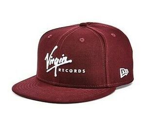 NEW 9FIFTY NEW ERA MAROON RED VIRGIN RECORDS COTTON TWILL SNAPBACK BASEBALL HAT, an item from the 'Awesome Baseball Hats' hand-picked list