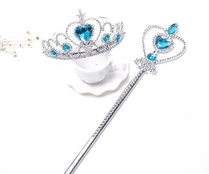 New Fashion Party Girls Princess Tiara Elsa Accessories Children 2019 Crowns Els, an item from the 'Girls Formal Occasion' hand-picked list