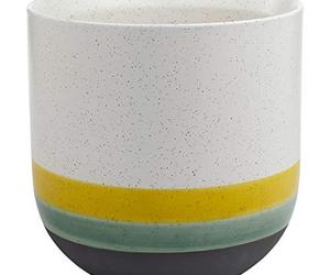Rivet Westline Modern Indoor Outdoor Hand-Painted Stoneware Planter Flower Pot, , an item from the 'Pretty Planters' hand-picked list