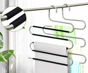 5in1 Multi-Layer Clothes Pants Trouser Hanger Rack Wardrobe Organize Space Save, an item from the 'Let's Put Things in Order' hand-picked list