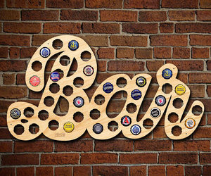 Bar Sign Beer Cap Holder, an item from the 'Happy Hour at Home' hand-picked list