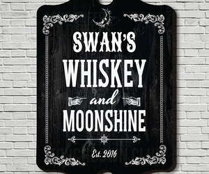 Whiskey & Moonshine Personalized Bar Sign, an item from the 'Happy Hour at Home' hand-picked list