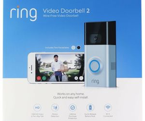 Ring Video Doorbell 2 Satin Nickel Brand New Factory Sealed , an item from the 'Smart Home and WiFi' hand-picked list