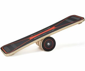 Coordination Balance Board Trainer Learning Ski Skate Boarding Exercise Wooden, an item from the ' Home Office and Exercise' hand-picked list
