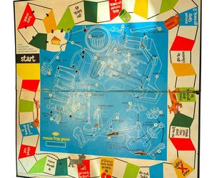 1963 Mouse Trap Board Game, AUTHENTIC ORIGINAL VINTAGE playing board (mousetrap), an item from the 'Community Picks: Game On...' hand-picked list