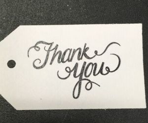 **100** Black & White Calligraphy Thank You Tags - Wedding, an item from the 'A Reception to Remember' hand-picked list