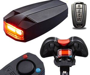 3 in 1 Bicycle Wireless Rear Light Cycling Remote Control Alarm Bike Smart Bell, an item from the 'Smart Home and WiFi' hand-picked list