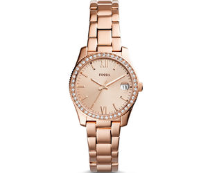 Fossil Scarlette Rose Gold Steel Bracelet ES4318 Ladies Watch, an item from the 'Watches for Her ' hand-picked list