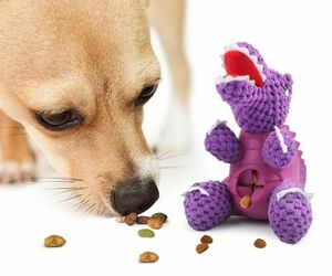 Toys Plush Molar Dinosaur Pet Dog Feeding Toys For Small Large Dogs Cat Feeder, an item from the 'Dog and Cat Lovers' hand-picked list