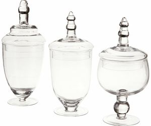 Clear Glass Jars Candy Decoration Fruits Canister Dinner Kitchen Bathroom Decor, an item from the 'A Reception to Remember' hand-picked list
