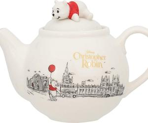 Disney Winnie the Pooh  Christopher Robin Teapot Cafe Pot white 565ml, an item from the 'Finds for the Foodie ' hand-picked list