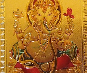 Ganesh Gold Foil Magnet Hindu Elephant God Deity Collectible Ganesha Spiritual , an item from the 'Stuck On You....' hand-picked list
